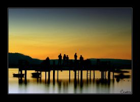 Evening by the pier by cedrus