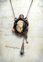 Steampunk gypsy lady in pendant-brooch by Verope