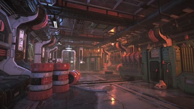 Unity3D Sci-Fi Enviornment by UNGDI-SEA