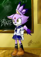 New Student Blaze the cat by Chingilin