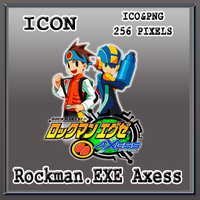 Rockman EXE Axess Icon by Myk-2103