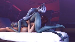 Shepard and the Asari 2 by Giallo1972