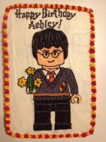 Lego Harry Potter Cake by risu-san