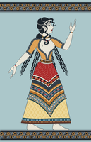 Minoan woman by yoctoparsec