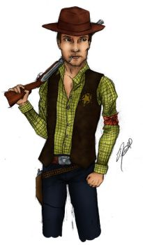 Sheriff Woody Pride - Coloured by PhantomKat813