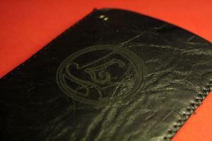 Engraved Prof. Layton wallet by Yuki-Myst