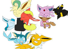 Eeveelution by Angelus3Love