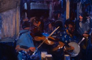 Musicians in a Pub in Ireland. by marcdalessio
