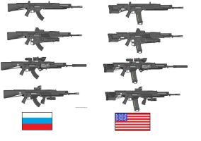 US/RU M220A1 Assault Rifle varriants by Marksman104