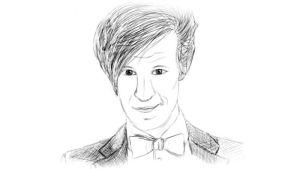 Matt Smith Black and White by IBelongToTheDoctor