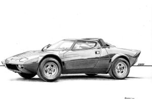 Lancia Stratos by CSwenson-Artistry