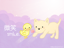 Smile Wallpaper by KelliBean