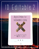 ID Editable 2 by KattyEditionss