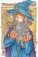 Gandalf and chibi fellowship by Kiroi