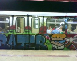 Subway Train Graffiti 9 by O-Bomba-pe-roti
