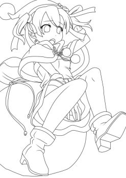 sword art online silica merry christmas lineart by kevin7788516