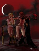 Inks, Red Sonja,shera Color Low by chachaman