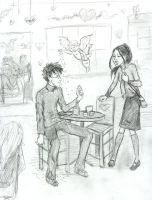 Harry and CHo's date by Hillary-CW