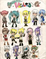 Vocaloid Chibis by Sketch75