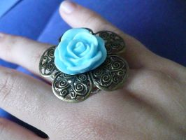 flower ring by Rainbowkitty-Designs
