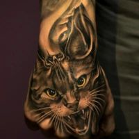 Hissing Lynx tattoo by FERNDOG