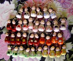 July Kokeshi Doll Earrings by janeybaby