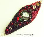 ROCKmeBILLY - Clock in Beadembroidery by Muriel-Leland