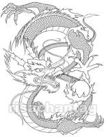 Chinese Dragon Tattoo by Risachantag