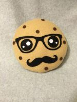 Cookie Plush with Mustache by CutesyKats