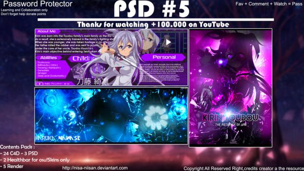 PSD#5 PACK by nisa-niisan