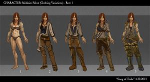 SoE Melakim Clothing Variations by AngelaSasser