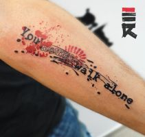 Trash polka - you never walk alone by enhancertattoo