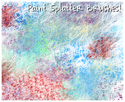 Paint Splatter Brushes by Inwe1