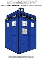 Cubeecraft - Bad Wolf TARDIS by CyberDrone