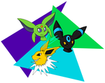 Pokecember 28: Fave Eeveelutions : Umbreon plus 2 by HyperSonicFire15