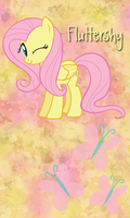 Fluttershy Win7 Phone BG by TecknoJock