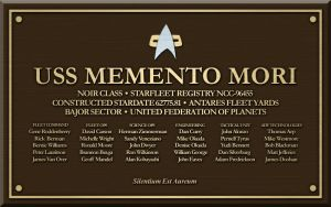 Memento Mori Dedication Plaque by kahn-iceay