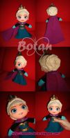 chibi Queen Elsa plush version by Momoiro-Botan