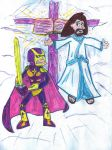 Jesus and Bibleman by SonicClone