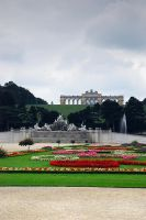 Park view with fountain by iisjahstock