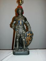 Plate Armor Knight Lamp by BecDeCorbin