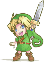 Hyrule Warriors Young Link by Lady-of-Link