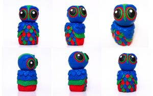 OWL WITH AN ATTITUDE collection - The RGB sister by julietteEscobar