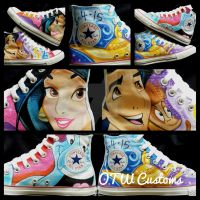 Aladdin and Jasmine Custom Converse by VeryBadThing