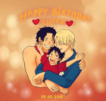 Happy Birthday Luffy 2015 ! by Brothers-of-FIRE