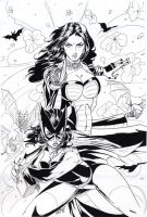 Jetta and Old School Batwoman by martheus