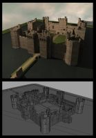 Bodiam Castle 3D Model by CaronCC