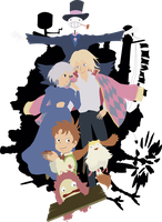 Howl's castle, Howl's home and Howl's family by XxmorwullxX