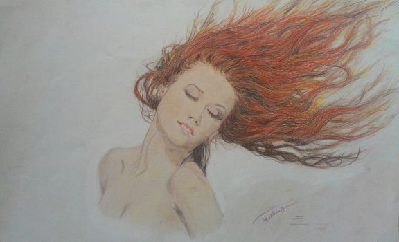 The red head woman by Gromolog