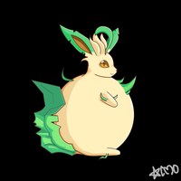 Leafeon Inflatable by ChrONa-SarAy